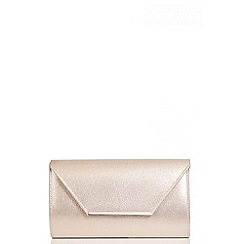 Quiz - Gold Shimmer Envelope Clutch Bag