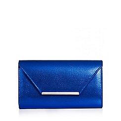Quiz - Blue shimmer envelope clutch bag