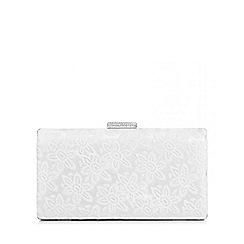 Quiz - White lace sequin clutch bag