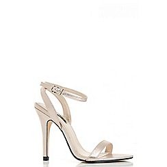 Quiz - Gold Shimmer Cut Out Sandals
