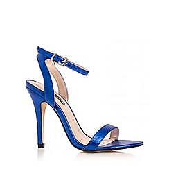 Quiz - Blue shimmer barely there sandals