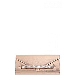 Quiz - Rose gold jewel band envelope clutch bag