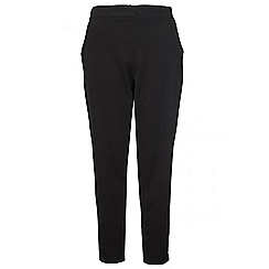 Quiz - Black curve crepe tapered trousers