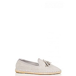 Quiz - Grey tassel detail espadrille pumps