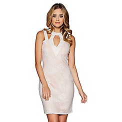 Quiz - Cream lace bodycon dress