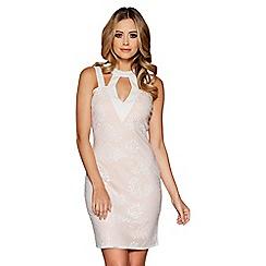 Quiz - Cream lace bodycon dress