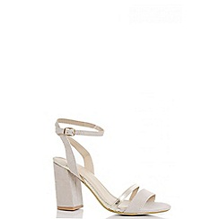 Quiz - Nude barely there gold strap sandals