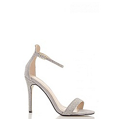 Quiz - Grey diamante barely there sandals