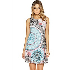 Quiz - Cream and pink aztec print tunic dress