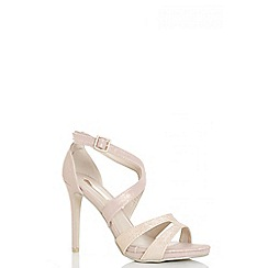 Quiz - Rose shimmer strappy heeled sandals