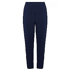 Quiz - Curve navy crepe tapered trousers