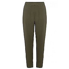 Quiz - Curve khaki crepe tapered trousers