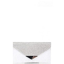 Quiz - White Lace Diamante Envelope Clutch Bag