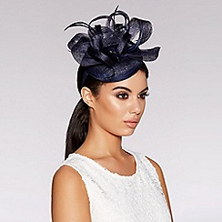 Quiz - Navy hairband fascinator