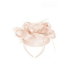 Quiz - Pink hairband fascinator