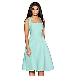 Quiz - Mint Stripe Textured Midi Dress