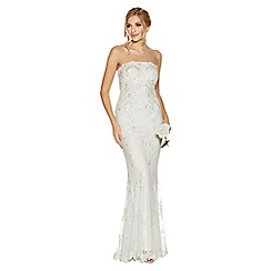 Quiz - Amie White Sequin Strapless Bridal Dress