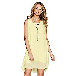 Quiz - Lemon Chiffon Necklace Tunic Dress