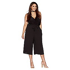 Quiz - Black Waist Tie Culotte Trousers