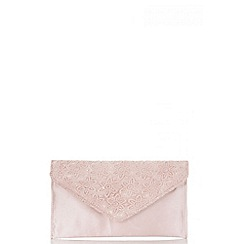 Quiz - Pink lace and satin clutch bag