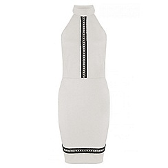 Quiz - Cream crochet detail bodycon dress