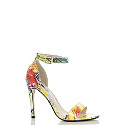 Quiz - Rio print barely there sandals