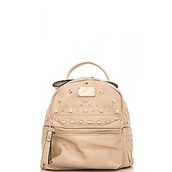 Quiz - Rose gold studded backpack