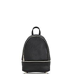 Quiz - Black zip detail backpack