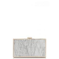 Quiz - Grey marble gold box bag