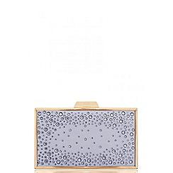 Quiz - Grey jewel box bag