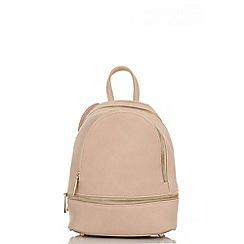 Quiz - Pink zip front backpack