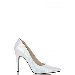 Quiz - Iridescent snake print court shoes
