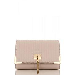 Quiz - Blush pink quilted tassel bag