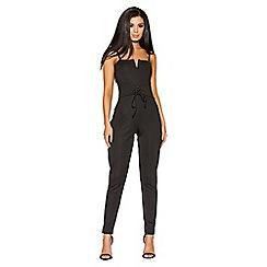 Quiz - Black corset detail jumpsuit
