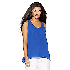 Quiz - Royal blue chiffon swing vest top