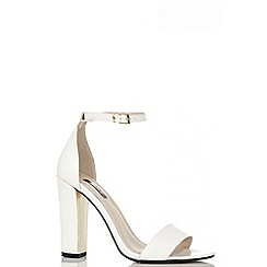 Quiz - White and gold plated strappy sandals