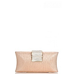 Quiz - Rose Diamante Bar Box Bag