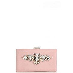 Quiz - Pink jewel box clutch bag