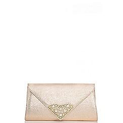 Quiz - Gold triangle jewel envelope bag