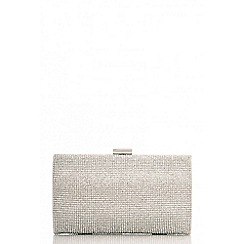 Quiz - Silver diamante shimmer box bag