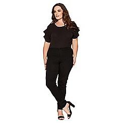 Quiz - Curve black stretch high waist jeans