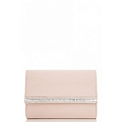 Quiz - Nude diamante clutch bag