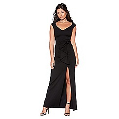 Quiz - Black bow detail maxi dress