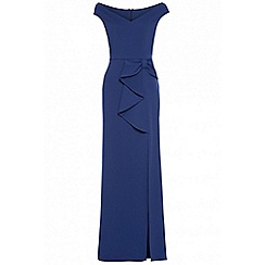 Quiz - Royal blue bow detail maxi dress