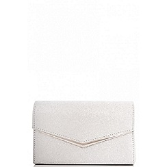 Quiz - Silver glitter clutch bag