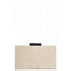 Quiz - Gold glitter box clutch bag