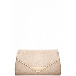Quiz - Gold shimmer clutch bag