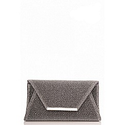 Quiz - Grey metallic clutch bag