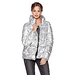 Quiz - Silver metallic padded jacket