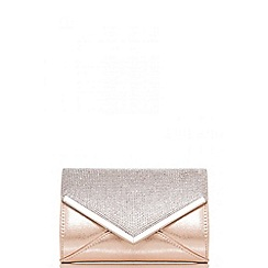 Quiz - Gold diamante and shimmer clutch bag